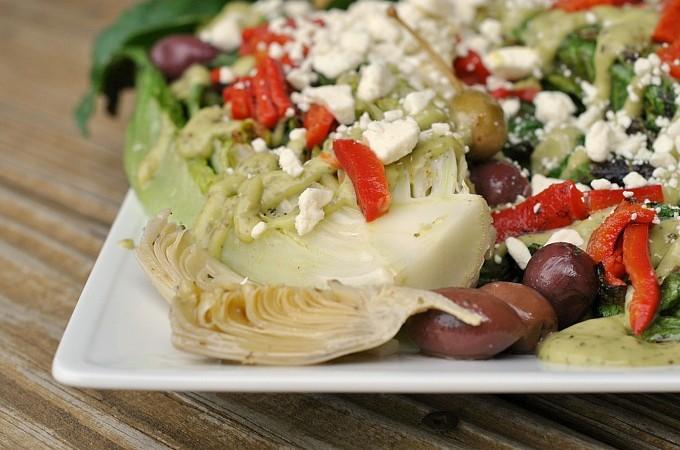 Grilled-Romaine-with-Creamy-Avocado-Greek-Dressing-4-680x450