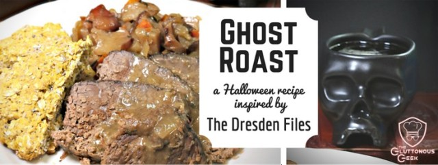 ThisDresden Files - inspired Darkhallow Beef Roast is braised in Oktoberfest Beer and is paired with Pumpkin-Hazelnut Oatcakes.