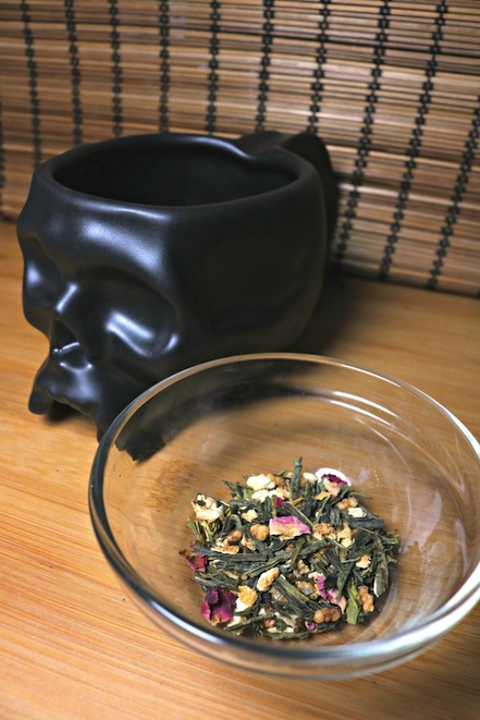 "Dryad Tea's ""Bob's Skull"" Blend - inspired by Bob from The Dresden Files. Review and Photo by The Gluttonous Geek."
