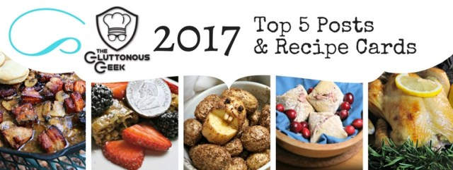 The Gluttonous Geek's Top 5 Geeky Recipes of 2017.