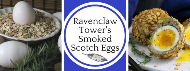 Inspired by the Harry Potter series, this recipe for beech-smoked scotch eggs scores points for Ravenclaw in a Sorting Feast of Flavor. Recipe by The Gluttonous Geek.
