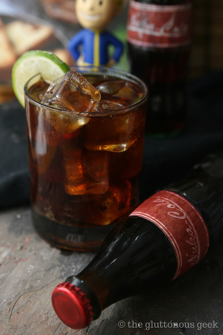 Nuka Cola from The Official Fallout Cookbook by Victoria Rosenthal. Photo and review by The Gluttonous Geek.