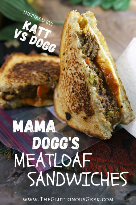Mama Dogg's Meatloaf Sandwiches inspired by Children's book Katt vs. Dogg. Recipe by The Gluttonous Geek.