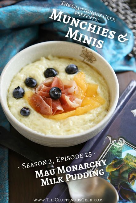 Mau Monarchy Milk Pudding inspired by Pugmire's Monarchies of Mau expansion. Recipe by The Gluttonous Geek.