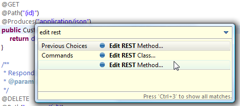 Edit REST - Ctrl + 3