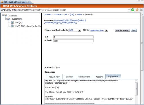 REST Web Services Explorer