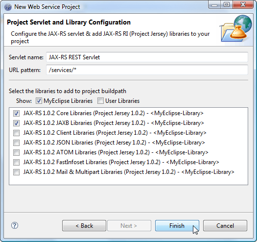 New REST Project - Library Selection