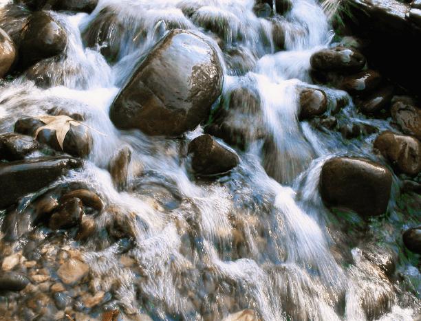 water flow rocks