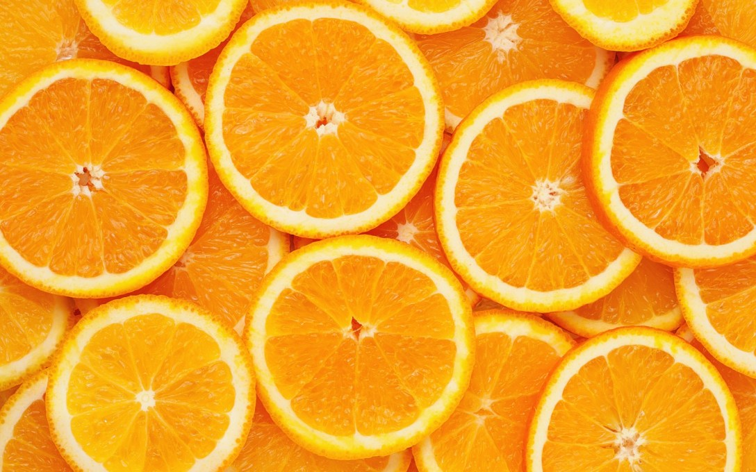 Orange slices, used to make sweet orange essential oil