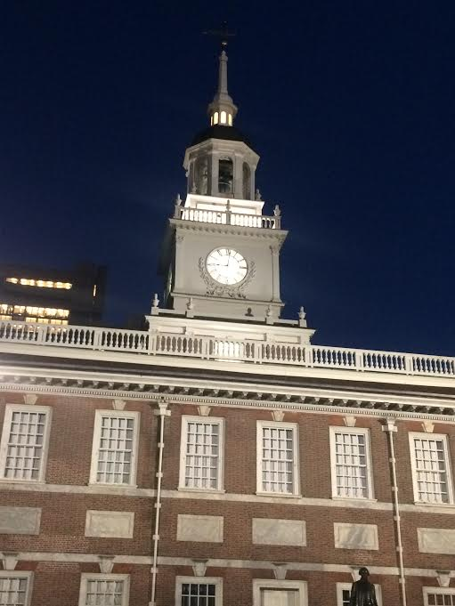 Philadelphia Independence Hall city at night