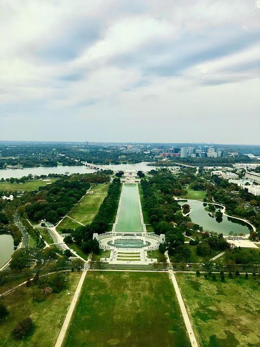 View of our nation's capital from top of Washington Monument