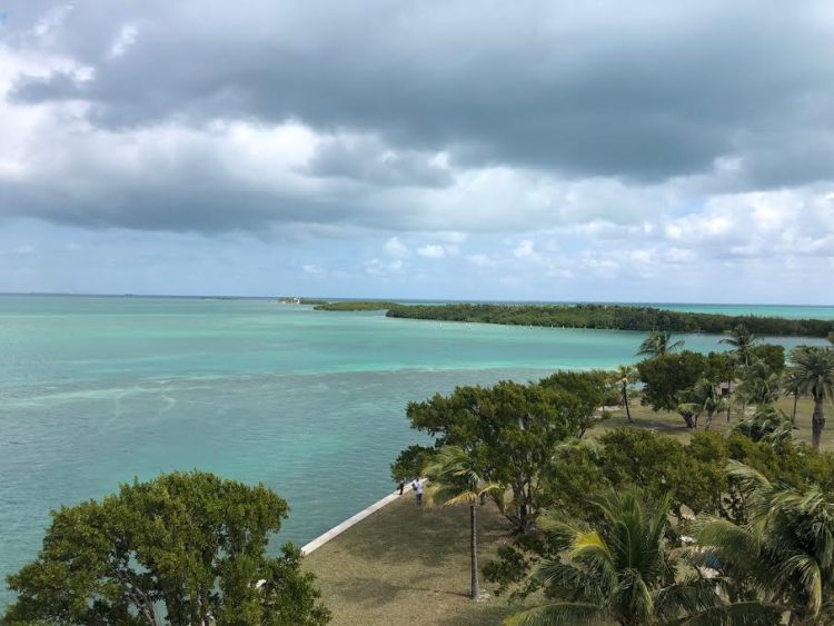 Biscayne National Park at Boca Chita Key with relaxing blue waters