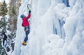 Ice climbing as a new outdoor challenge in winter