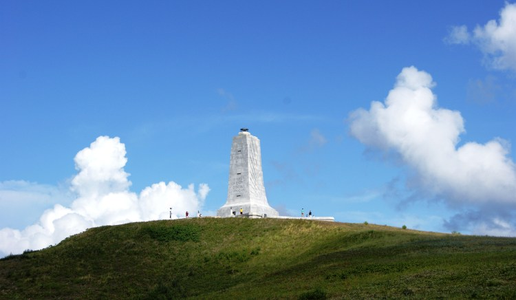 Wright Brothers monument National Park service site