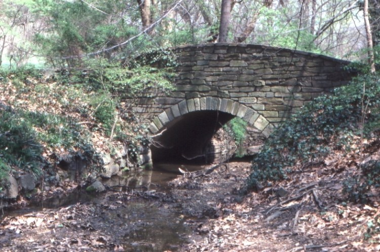 Stone bridge in Rock Creek Park, Washington D.C.
