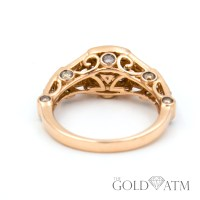 14K Rose Gold LeVian Engagement Ring with Chocolate