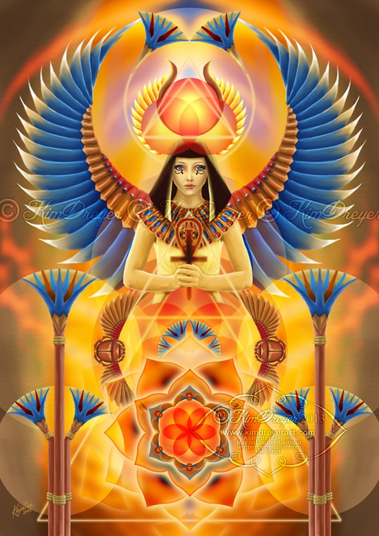 Goddess Isis by Kim Dreyer