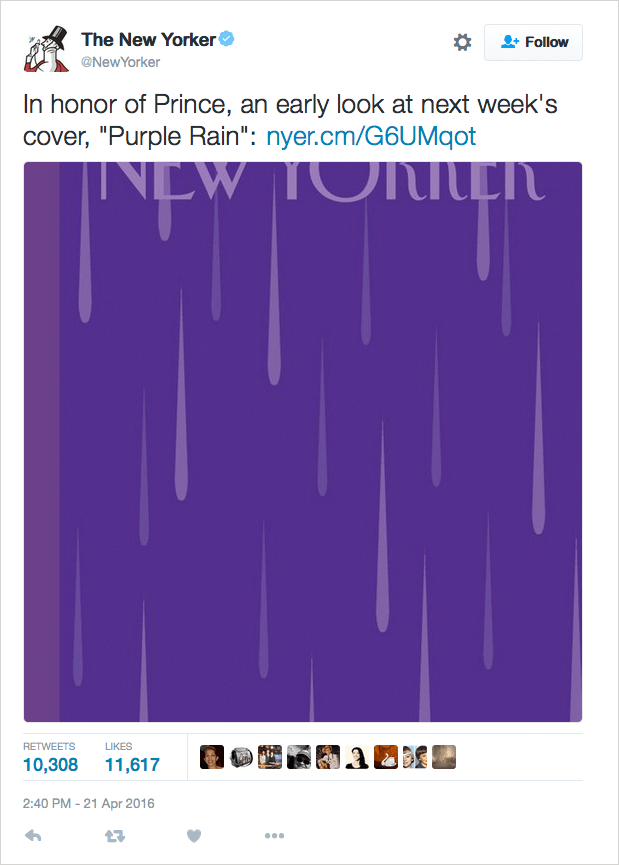 prince new yorker cover purple rain