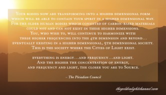 Pleiadian Council via Goldenlight *NOW* Moment ~ Transforming to a Higher Dimension: All is Energy, Frequency, and Light