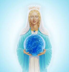 Mother Mary - Queen of the Angels, twin flame of Archangel Raphael