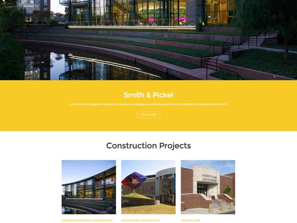 New Client Announcement: Smith & Pickel Construction