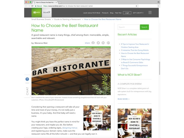 How to Choose the Best Restaurant Name – NCR