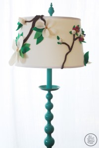 DIY Anthropologie Inspired Floral Lamp Shade | The Gold ...