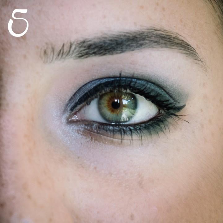makeup nero grigio occhi sensibili 6