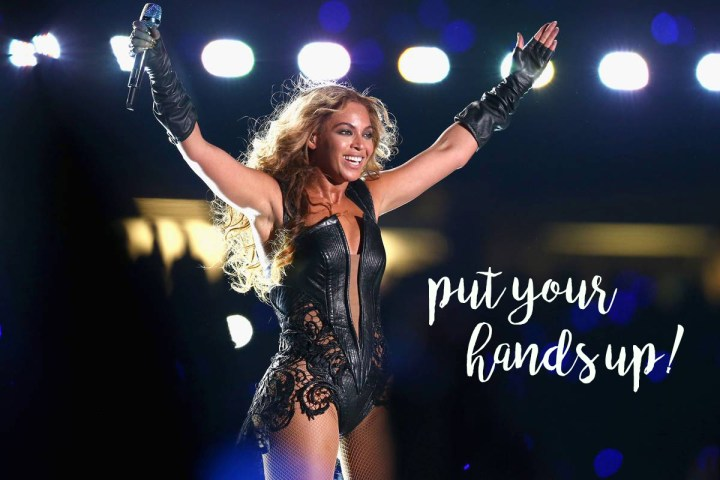 Beyonce hands up