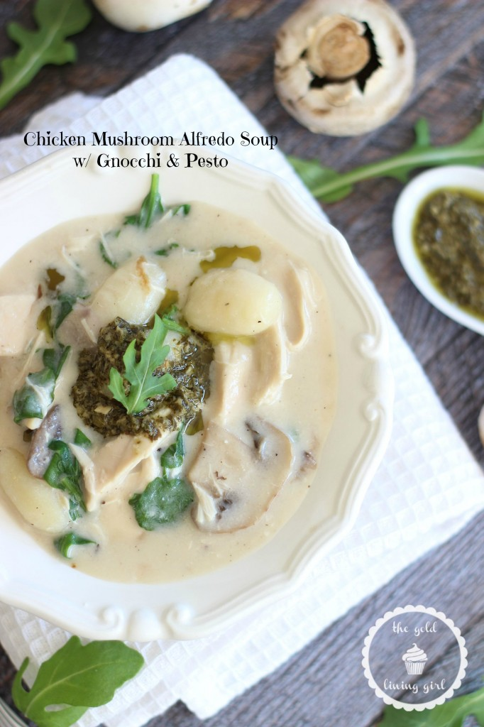 chicken mushroom alfredo soup with gnocchi and pesto 4 pin