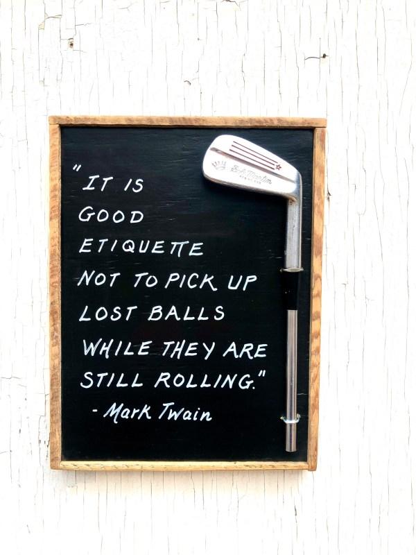 Golf Etiquette/ Mark Twain