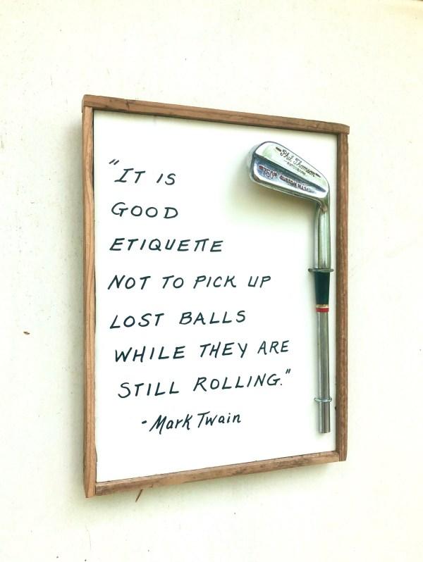Mark Twain, Golf Etiquette