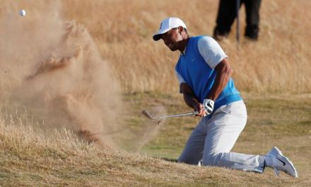 Tiger Woods' first day at the British Open: strong early, rocky late