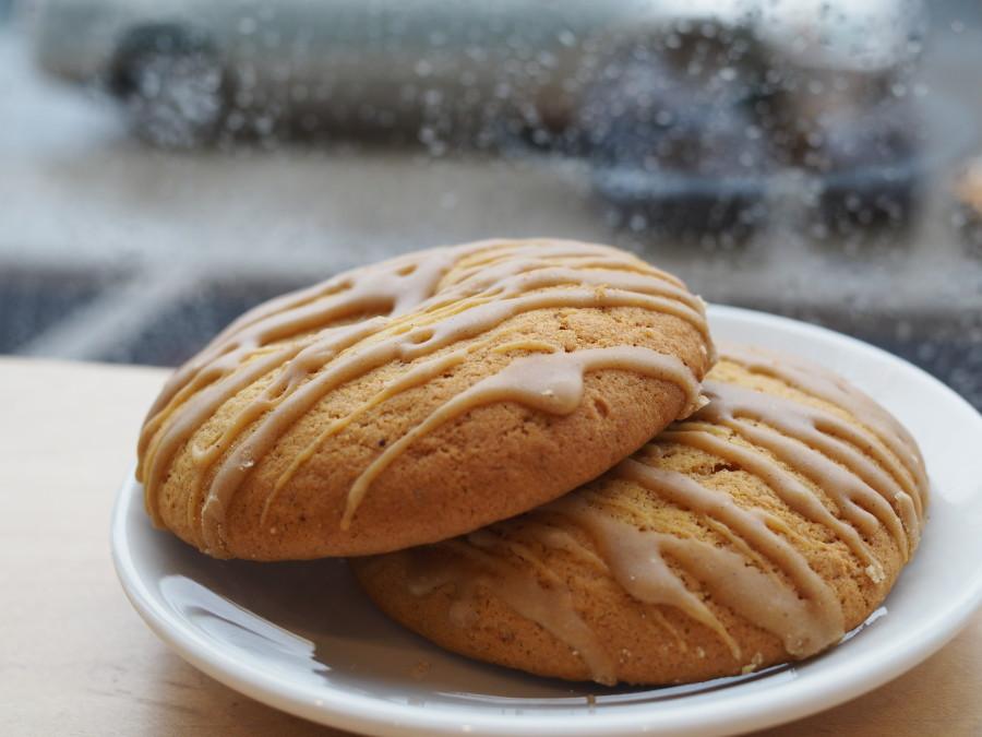 pumpkin snickerdoodle cookie