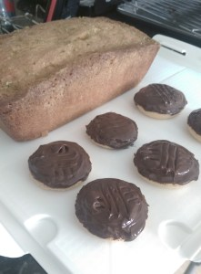 drizzle cake and jaffa cakes