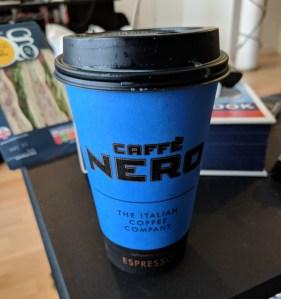 cafe nero chai latte takeaway cup
