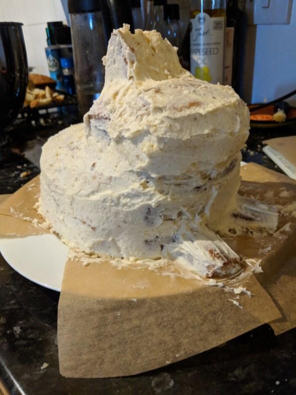 Bunny Cake - crumb coat