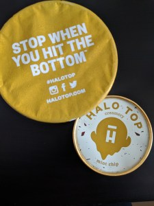 Halo Top Mint Chip Ice Cream tub