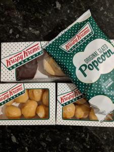 New Krispy Kreme BItes and popcorn