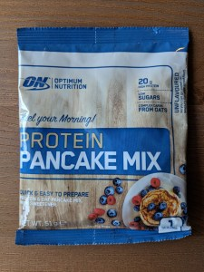 Protein pancake mix packet