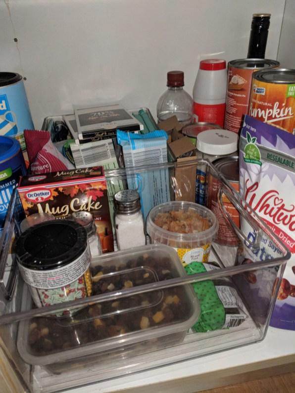 Clear storage in kitchen cupboards