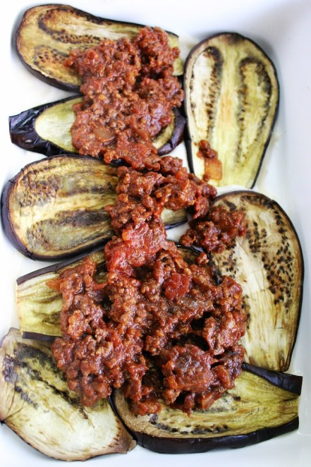 TheGoodGreeff mixed vegetable moussaka aubergines & minced beef