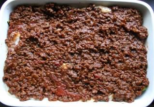 TheGoodGreeff mixed vegetable moussaka minced beef layer