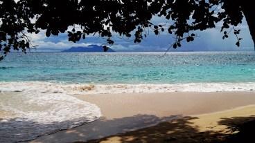 The secret Beach at Lllot chalets