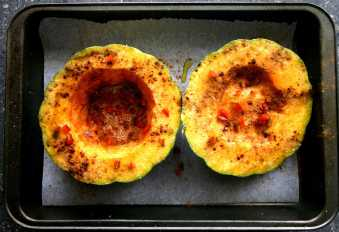 Seasoned squash, ready to bake