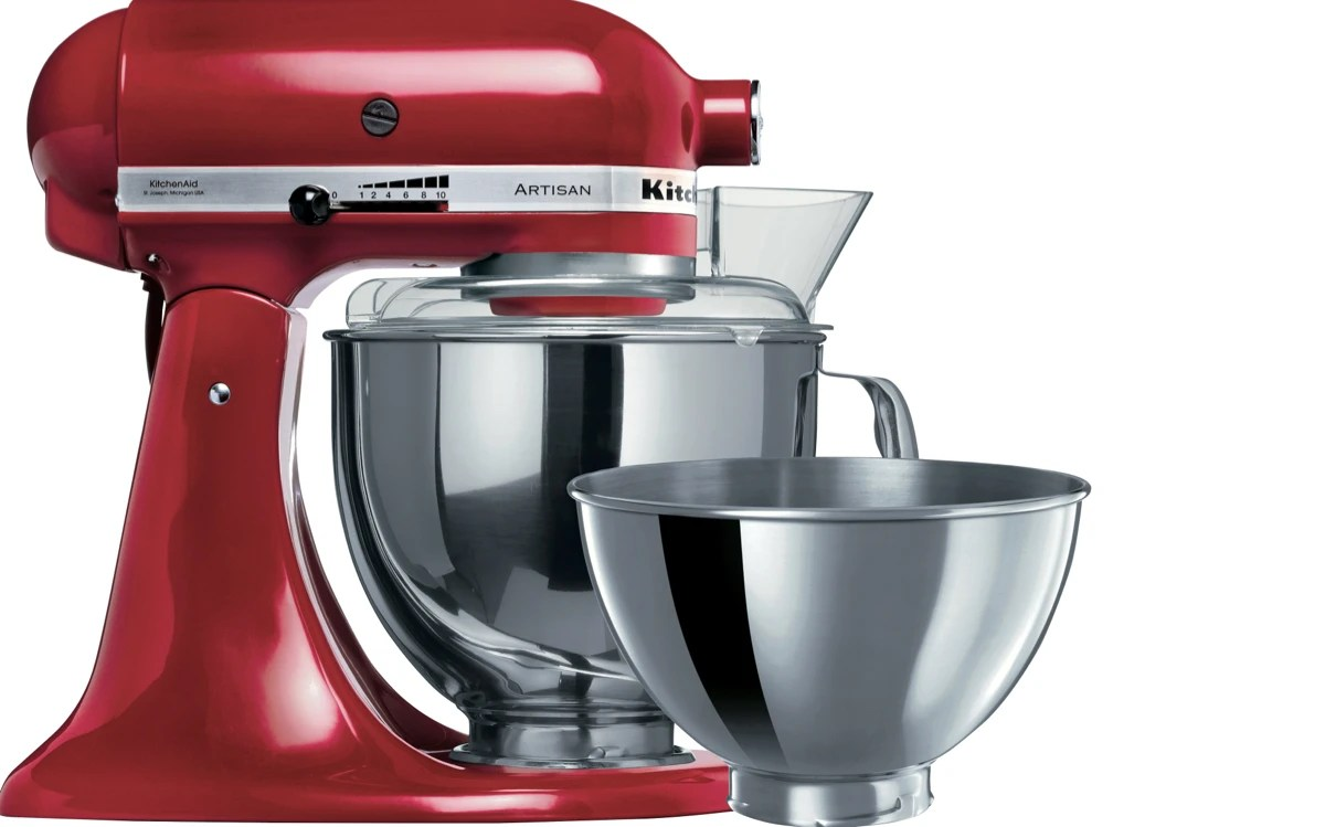 kitchen aid mixers portable cabinets kitchenaid 5ksm160psaer artisan stand mixer empire red at the good its full metal construction and timeless appearance ensures looks as it performs