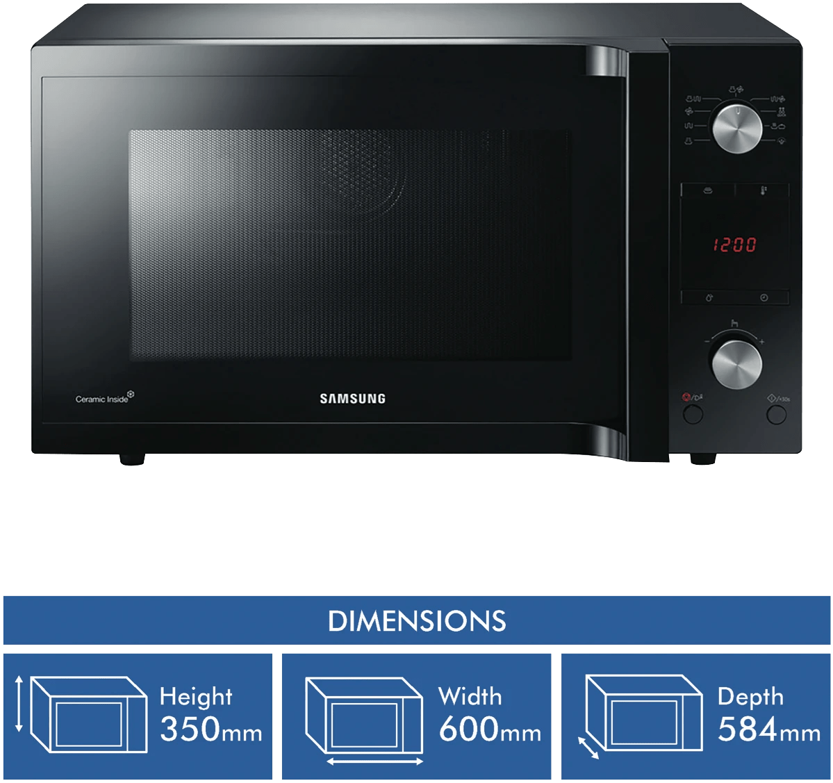 samsungfamily size 45l convection mwo