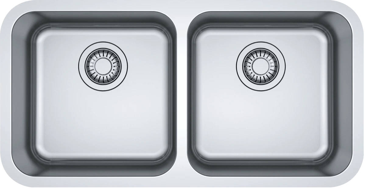 franke bcx220 38 38 bell double bowl sink at the good guys