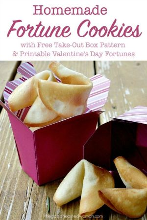 Homemade Fortune Cookies {with FREE Take-out Box Pattern & Valentines Day Fortune Printables} | The Good Hearted Woman #ValentinesDay #freeprintables #cookierecipe