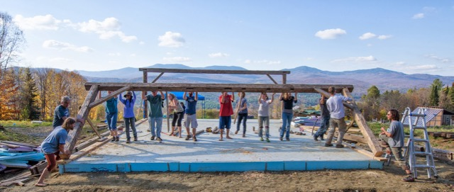barn raising, start an organic farm